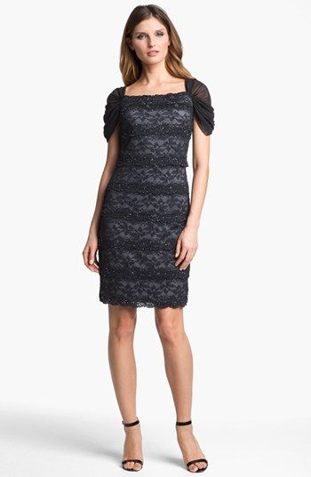 Patra Embellished Lace Sheath Dress Available At Nordstrom Formal