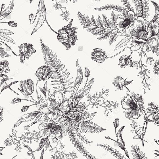 de9265551ca1 Flor De Anêmona, Anêmona Branca, Padrão De Vetor, Padrões Vintage, Estampas  Florais