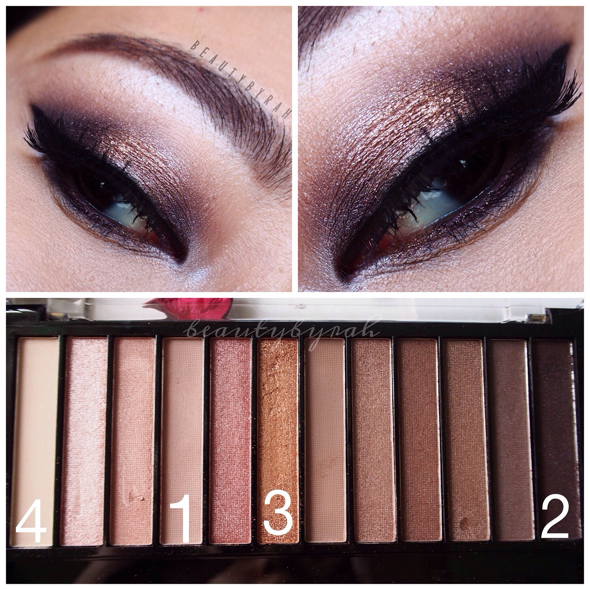 Eyeshadow look using the makeup revolution iconic 3 palette - @beautybyrah on Instagram
