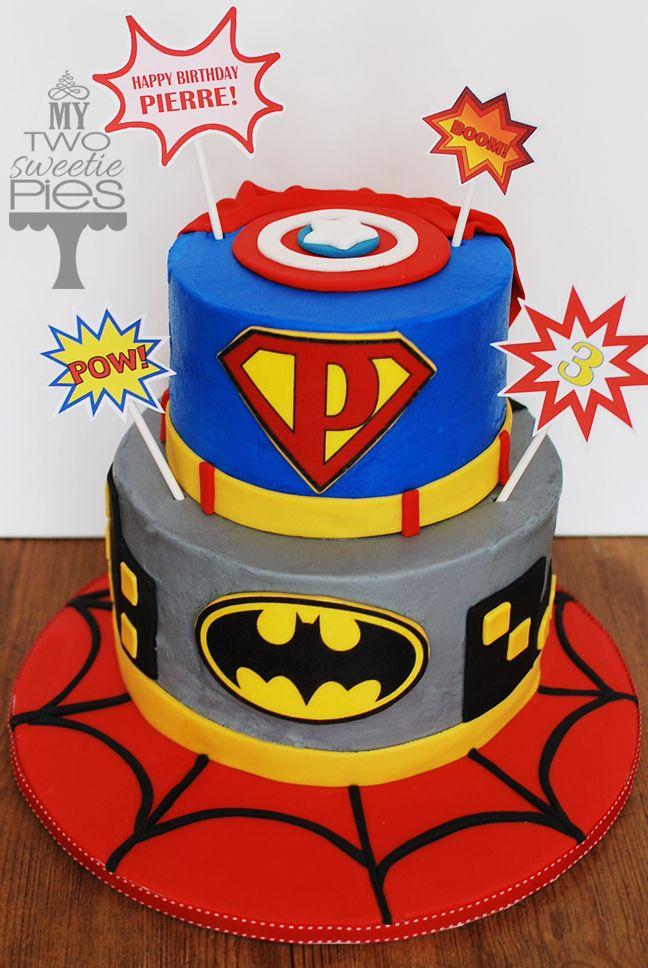Incredible Superheros Cake Superhero Birthday Cake Birthday Cake Kids Boys Personalised Birthday Cards Epsylily Jamesorg