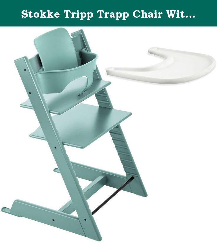 Stokke Tripp Trapp Chair With Baby Set & Tray (Aqua Blue). Get The ...