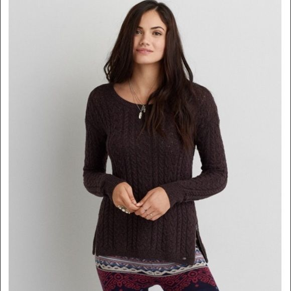 aeo sedona sweater• | Aeo, Cable knitting and American eagle ...