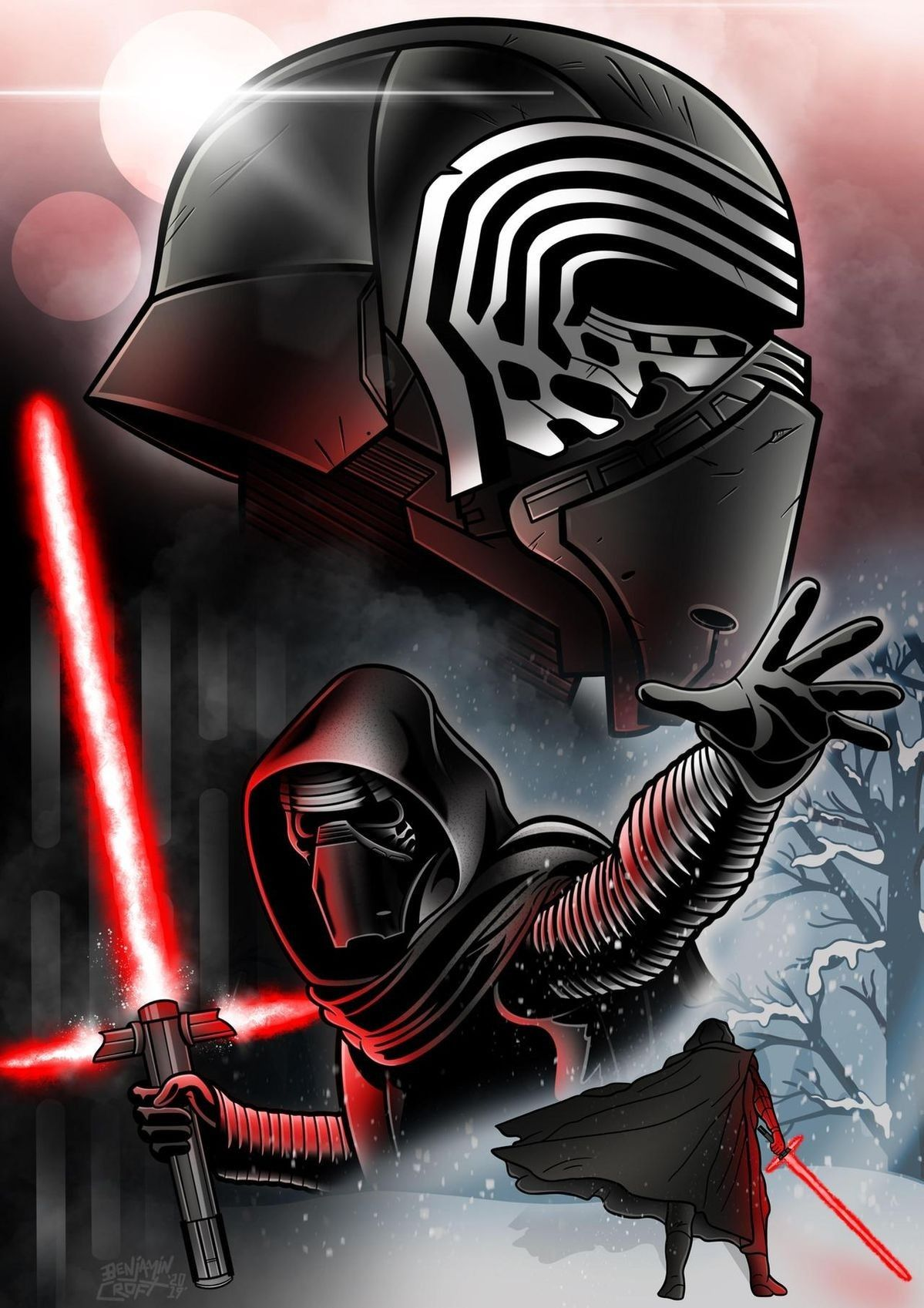 Pin by Jimmy Moreno on Kylo Ren in 2020 Star wars poster