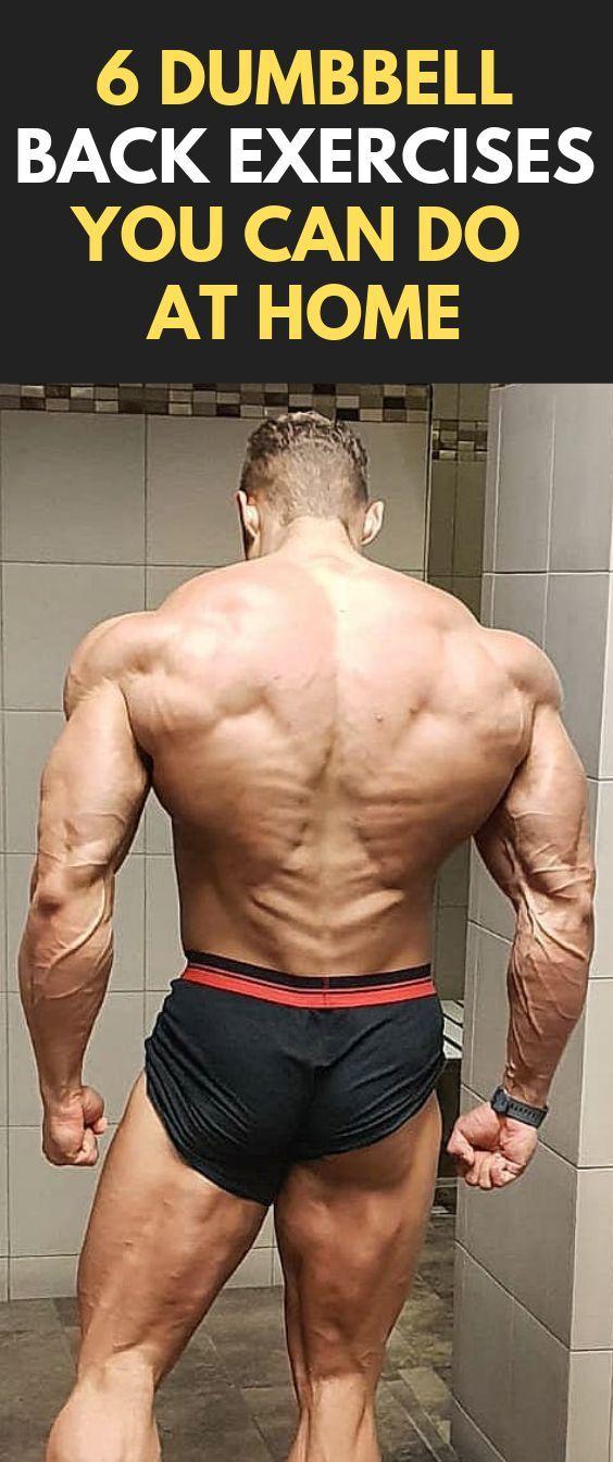 6 Hantel-Rückenübungen, die Sie zu Hause machen können #Fitness #Körperbau #Hantel # ...   - * Train...