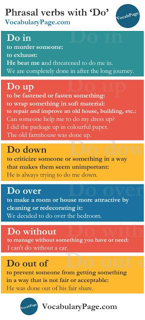 Phrasal verbs with Do http://www.vocabularypage.com/2016/09/phrasal-verbs-that-start-with-d.html