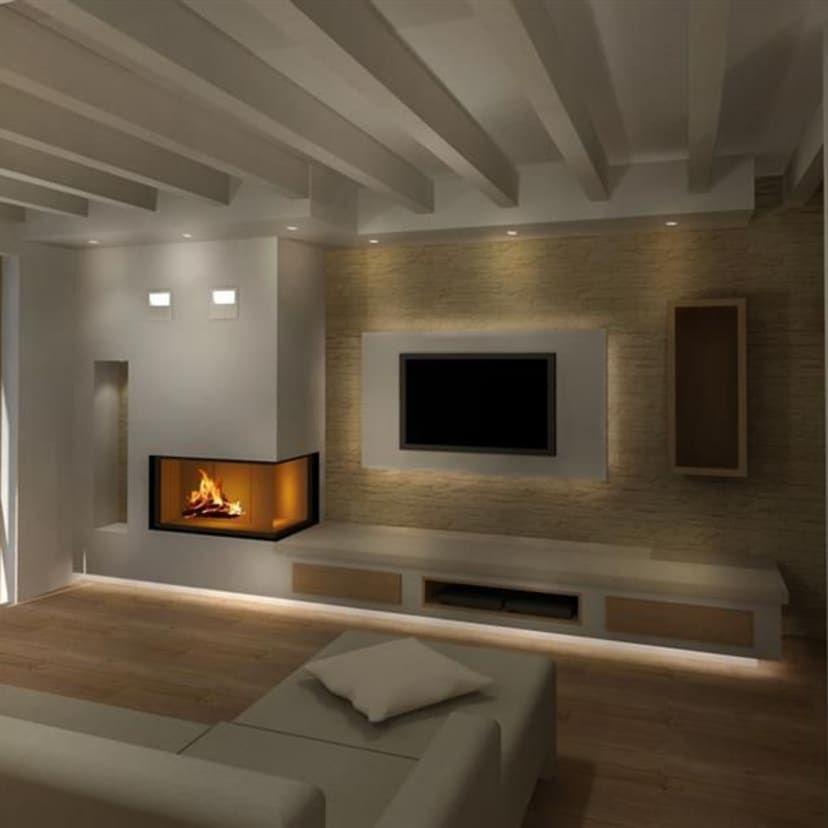 Arredamento soggiorno moderno con il camino. Pin Su Arredamento Salotto Con Camino