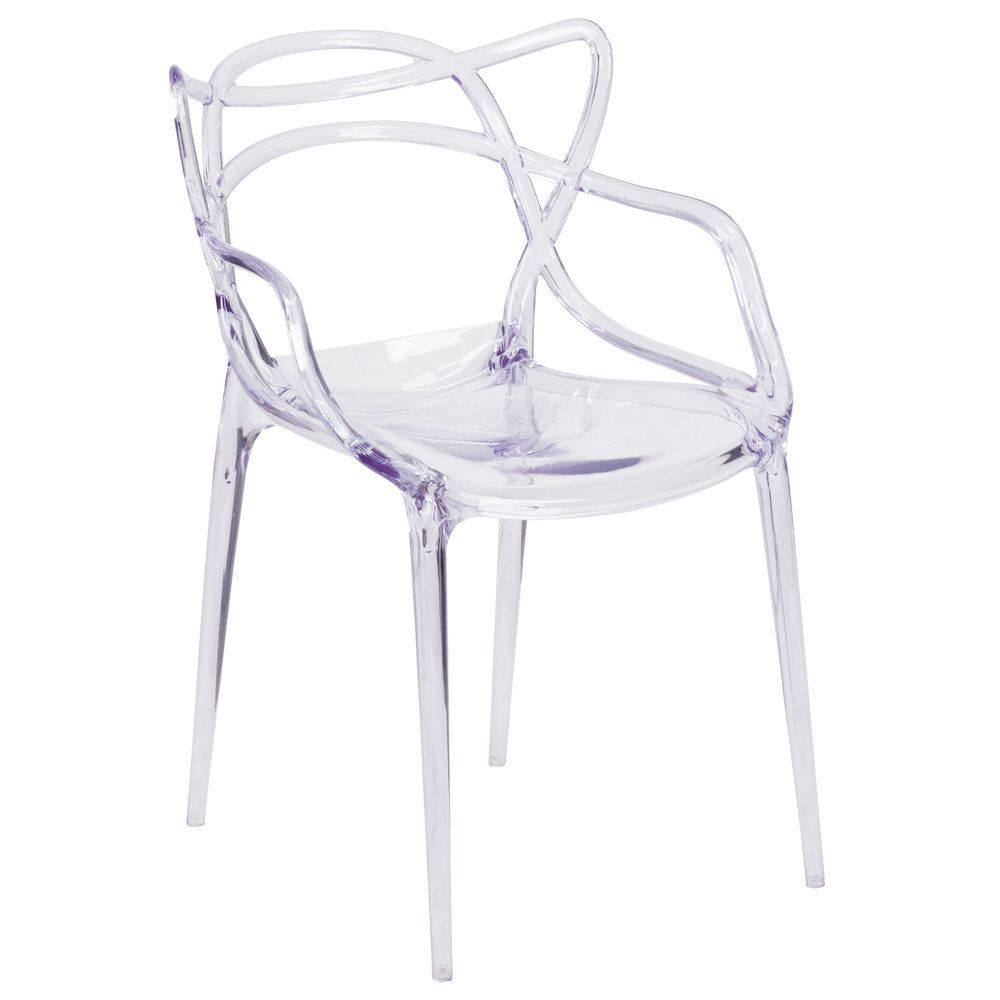 Flash Furniture FH 173 APC GG Nesting Transparent Polycarbonate Outdoor /  Indoor Stackable Side Chair