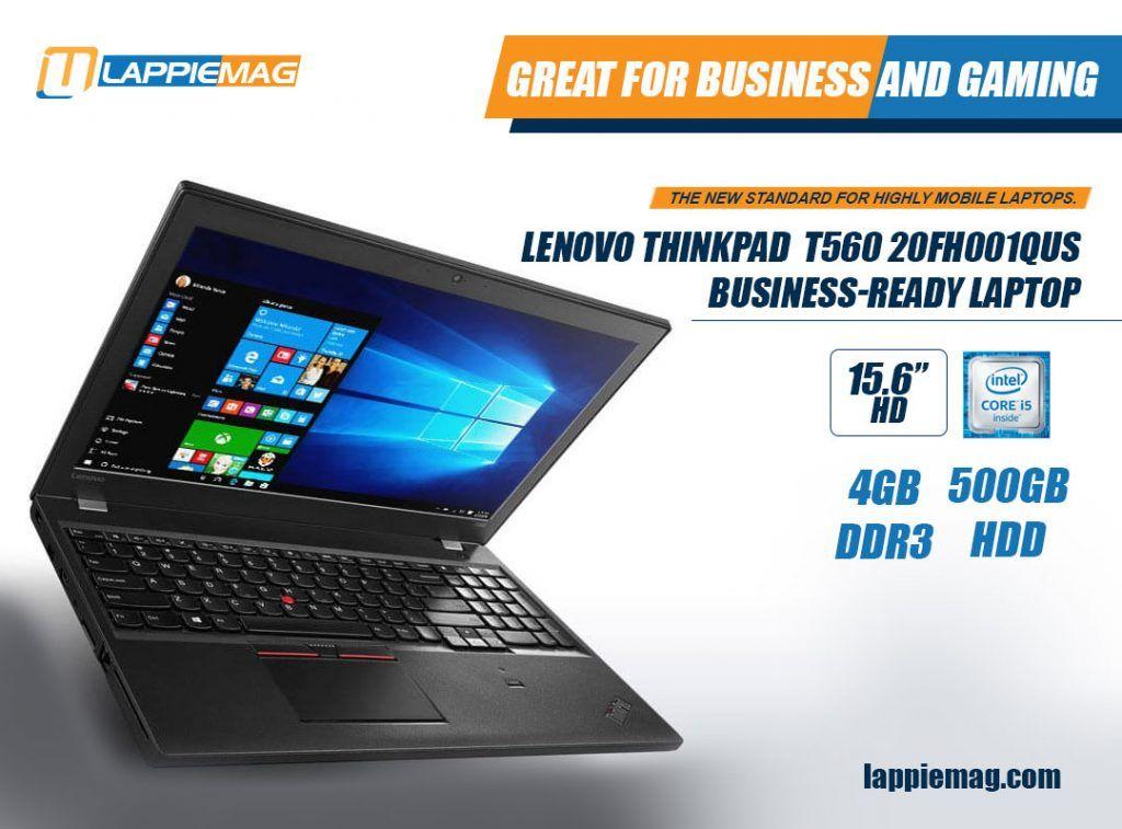 Lenovo Thinkpad Business-Ready Laptop T560 20FH001QUS (15 6