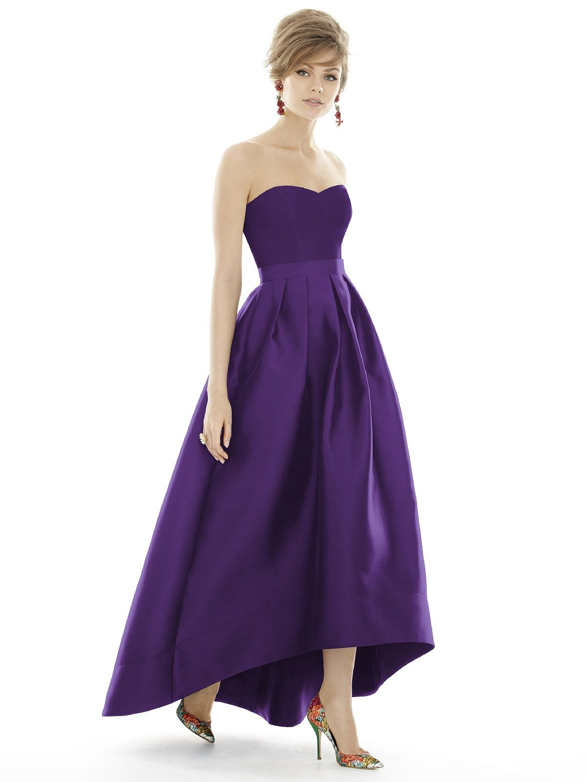 Shop alfred sung bridesmaid dress d699 in sateen twill at find the perfect made to order bridesmaid dresses for your bridal party in your favorite color style and fabric at weddington way ombrellifo Images