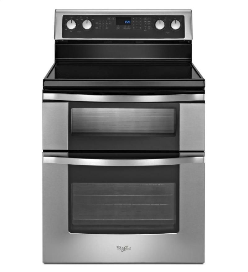 Wge555s0bs In Stainless Steel By Whirlpool In Nashville Tn 6 7 Total Cu Ft Double Oven Electri Double Oven Electric Range Electric Double Oven Double Oven