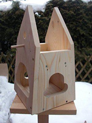 Dekorativer nistkasten nb2 mit vogelfutterhaus zum selbst bauen bausatz vogelhaus vogelh uschen - Vogelfutterhaus bausatz ...