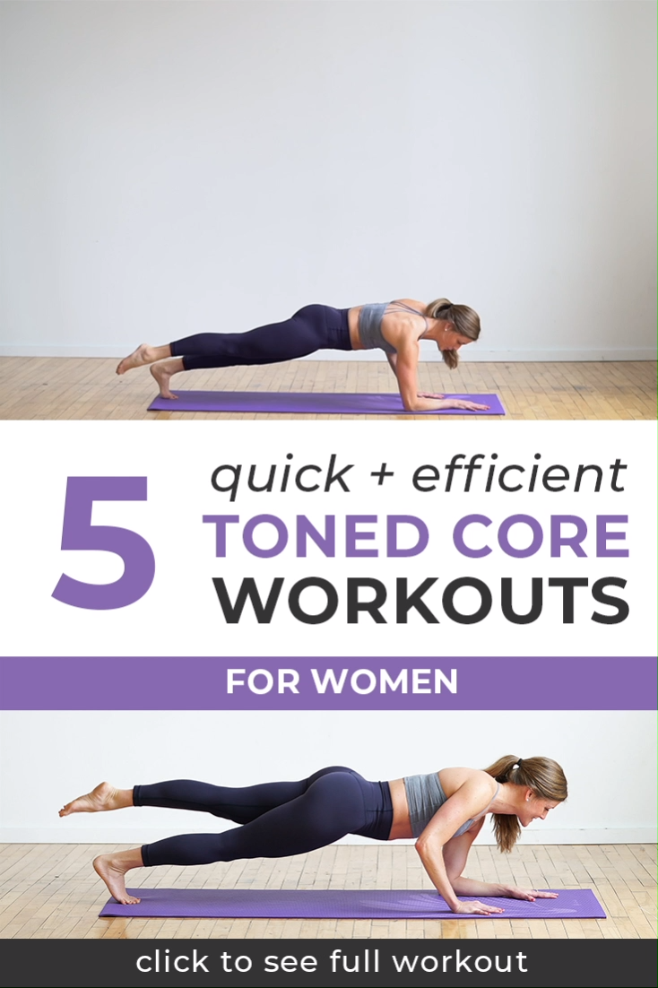 5 Quick & Efficient Toned Core Workouts #coreworkouts