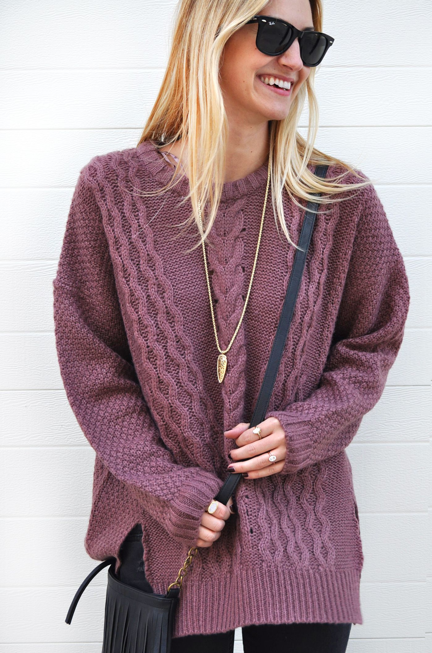 oversize cable knit sweater (on sale!) / LivvyLand | Best Beauty ...