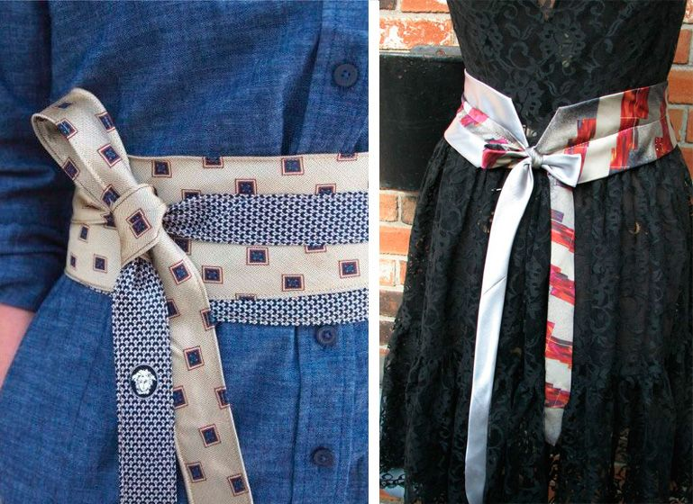 a piedi scatti di migliori marche godere di un prezzo economico Riciclare le cravatte: 22 idee creative da copiare | Cintura ...
