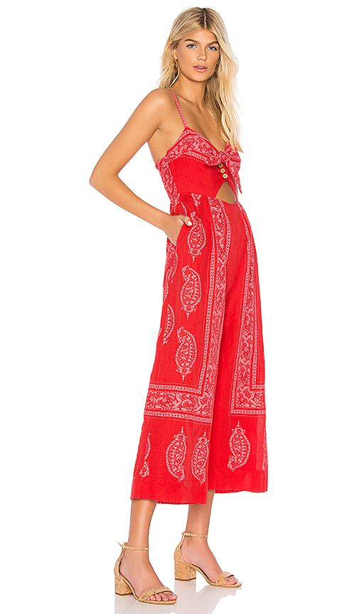 ffb9395b9370 Free People Feel The Sun Jumpsuit in Red