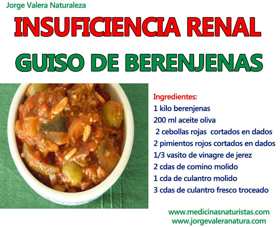 Insuficiencia con renal persona puede que comer una no