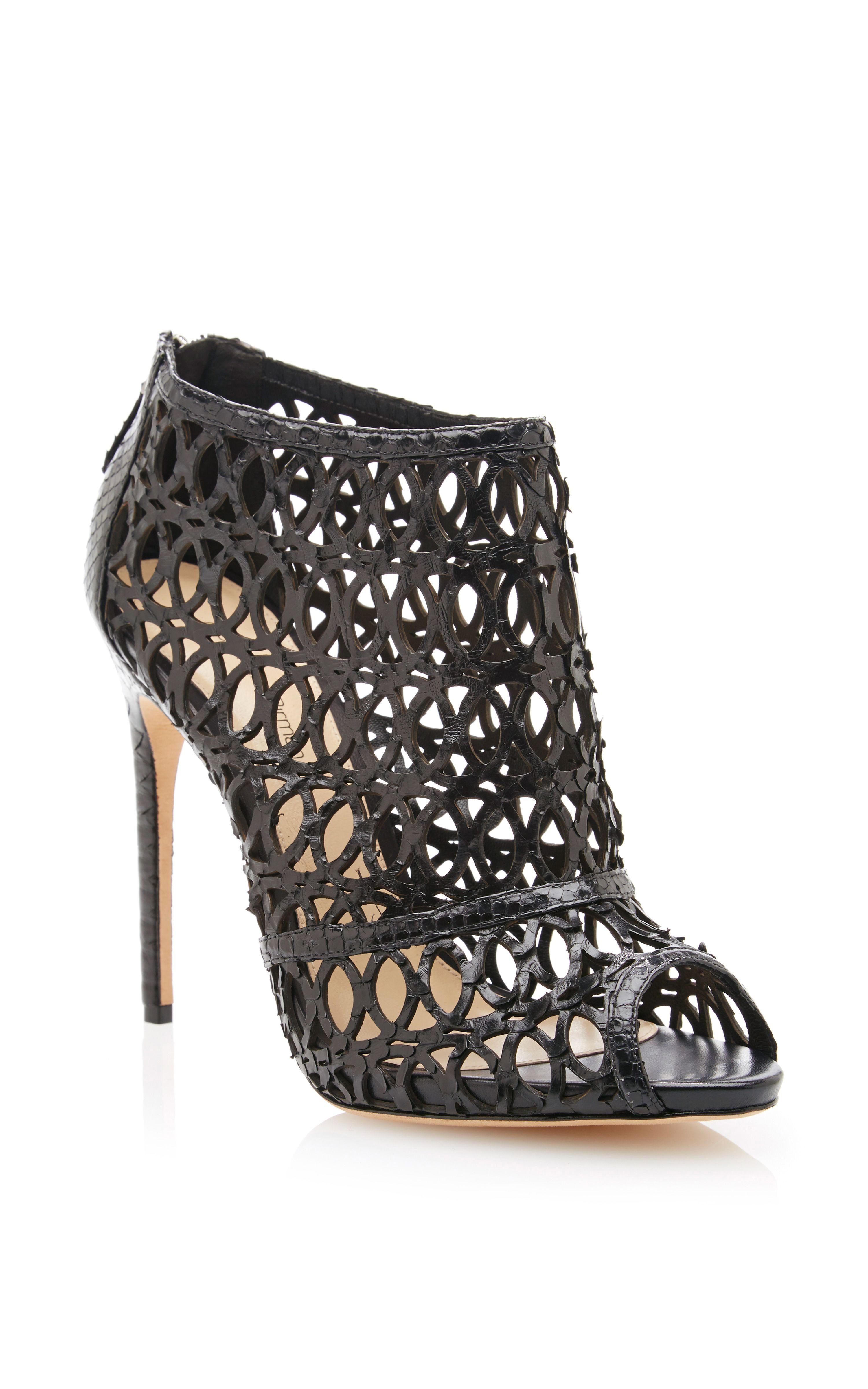 reliable sale online outlet exclusive Alexandre Birman Python-Trimmed Cutout Sandals SBQIroCtJ
