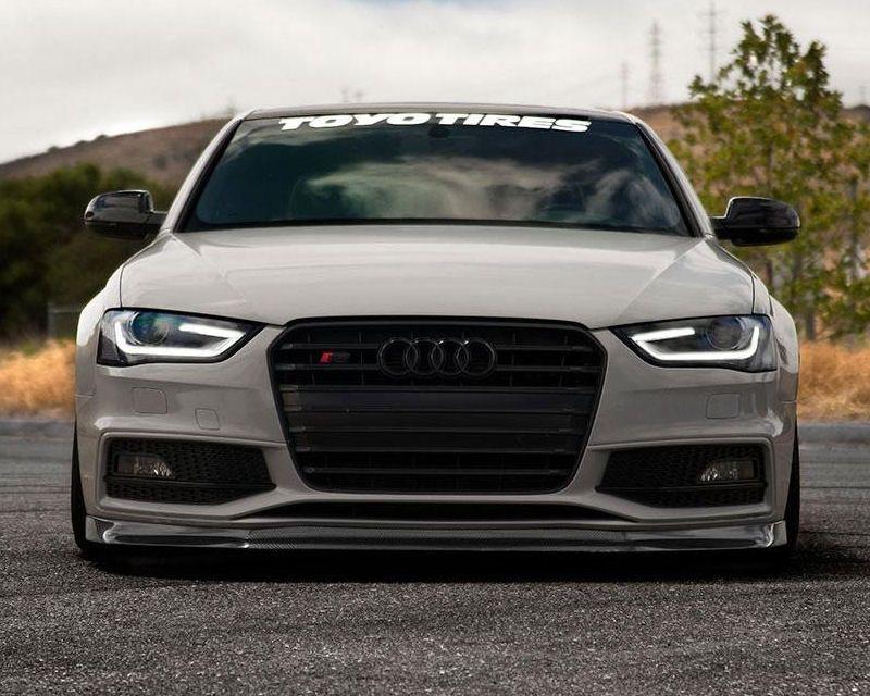 10 B8c 002 Enlaes Carbon Fiber Front Lip Spoiler Audi S5 A5 B8 5 S Line Audi S5 Audi Audi Wagon