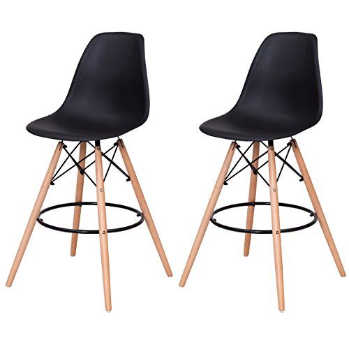 Astounding Giantex High Back Modern Dining Chairs W Natural Wood Legs Gmtry Best Dining Table And Chair Ideas Images Gmtryco