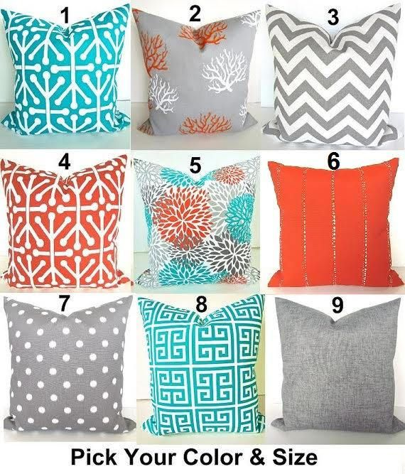 OUTDOOR PILLOWS Teal Throw Pillow Covers Turquoise Pillows Grey Best Decorative Outdoor Pillows On Sale