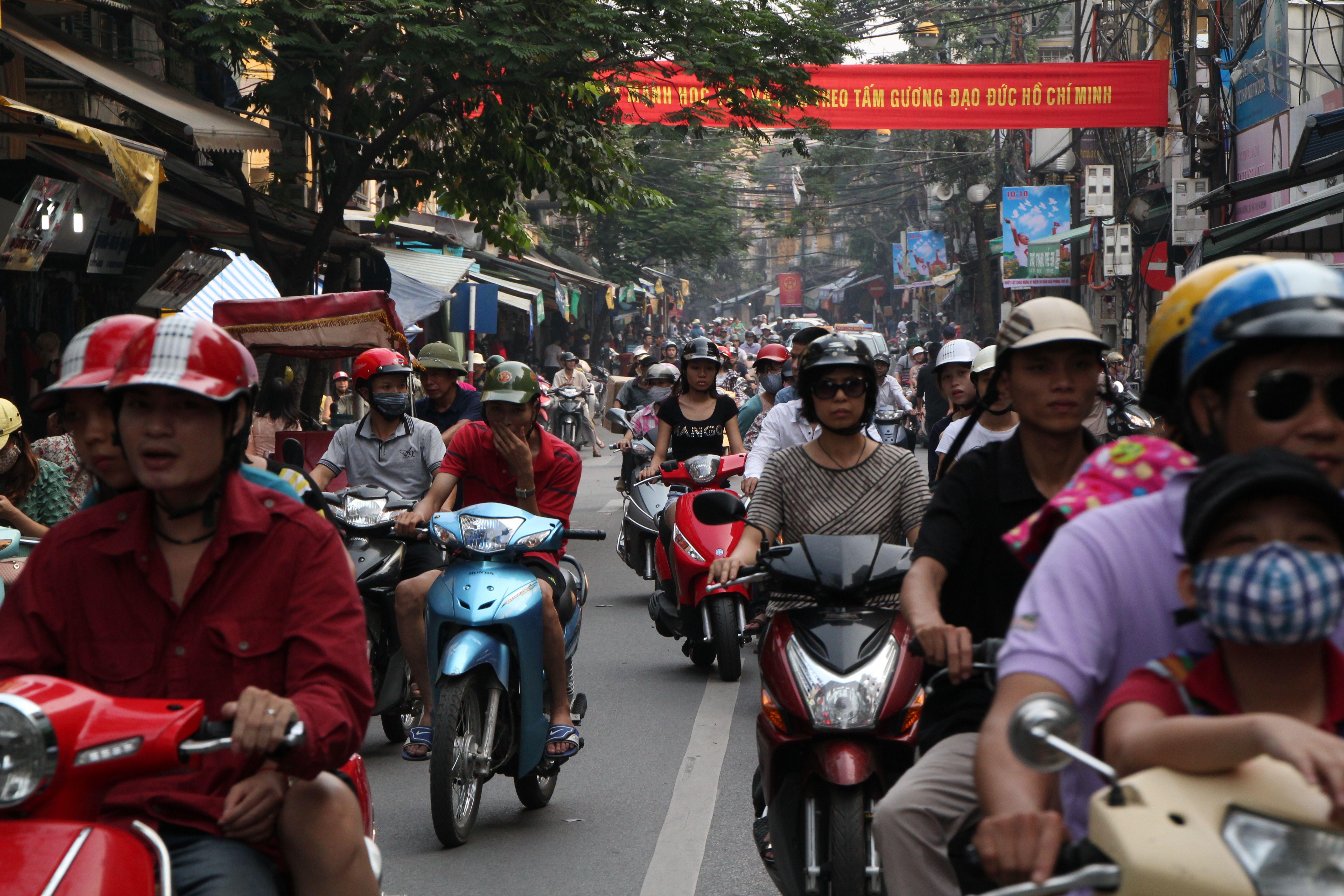 Traffic of Hanoi.