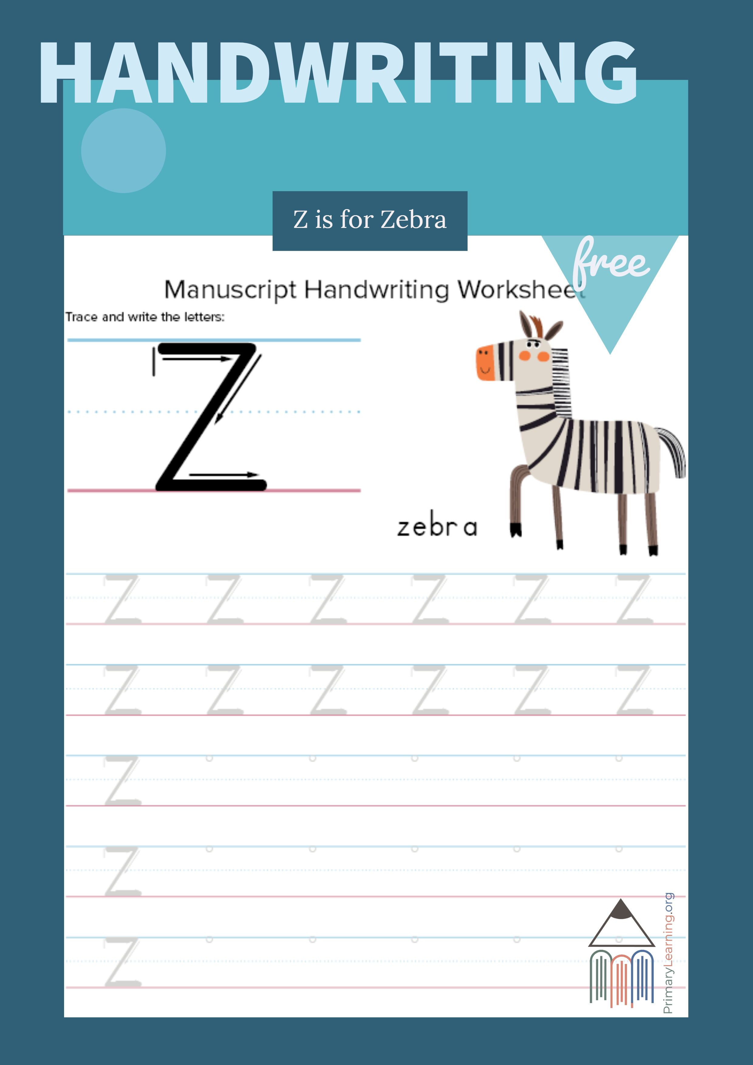 Writing And Tracing Letter Z Primarylearning Org Handwriting Practice Preschool Cursive Practice Preschool Letters [ 3509 x 2480 Pixel ]