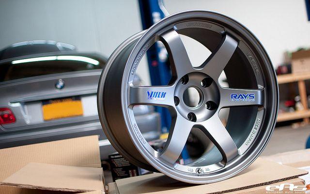 Matte Gray Volk Te37 07 Rims For Cars Custom Wheels Cars Wheel Rims