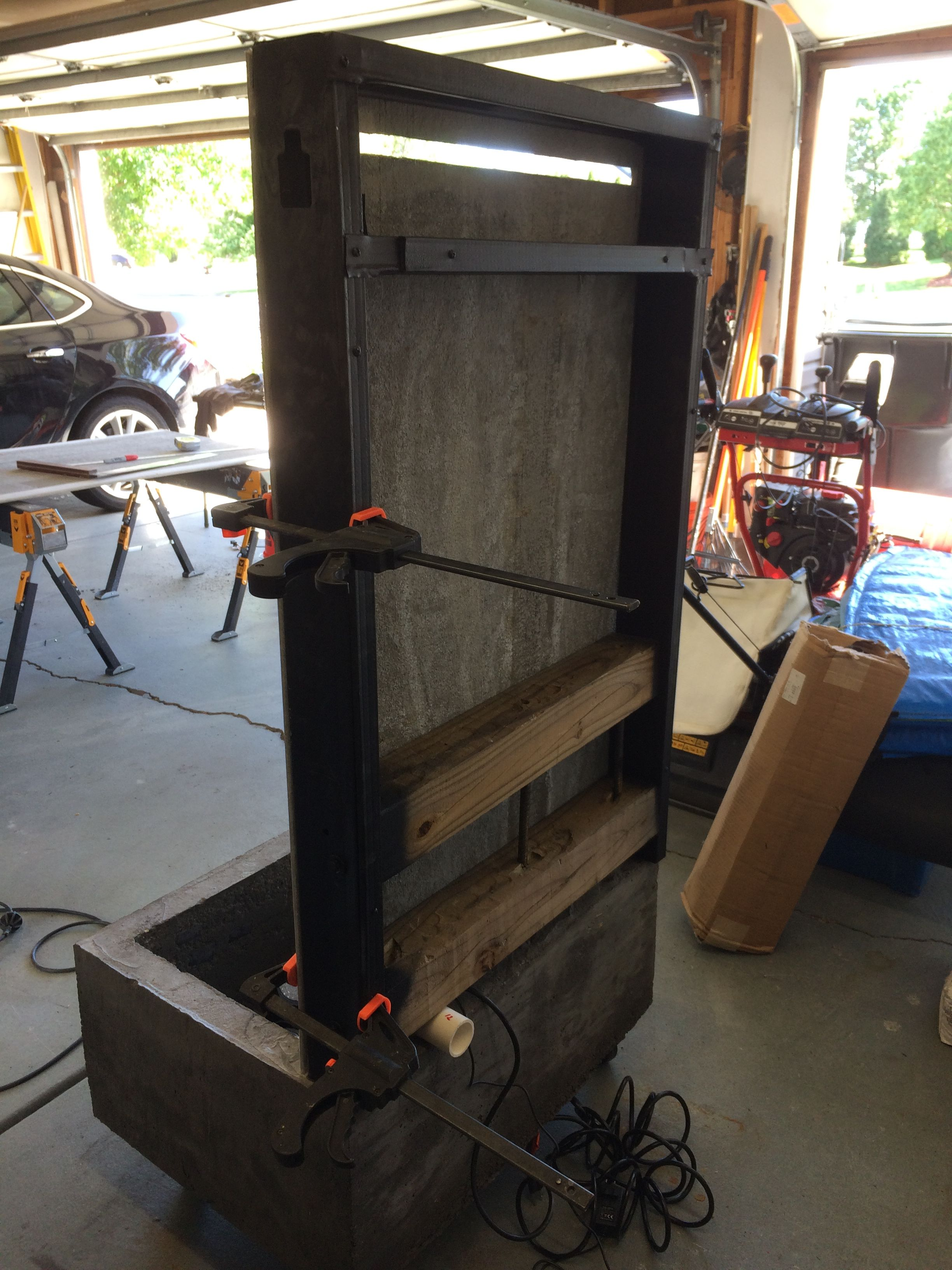 Backside view while installing the backer board custom