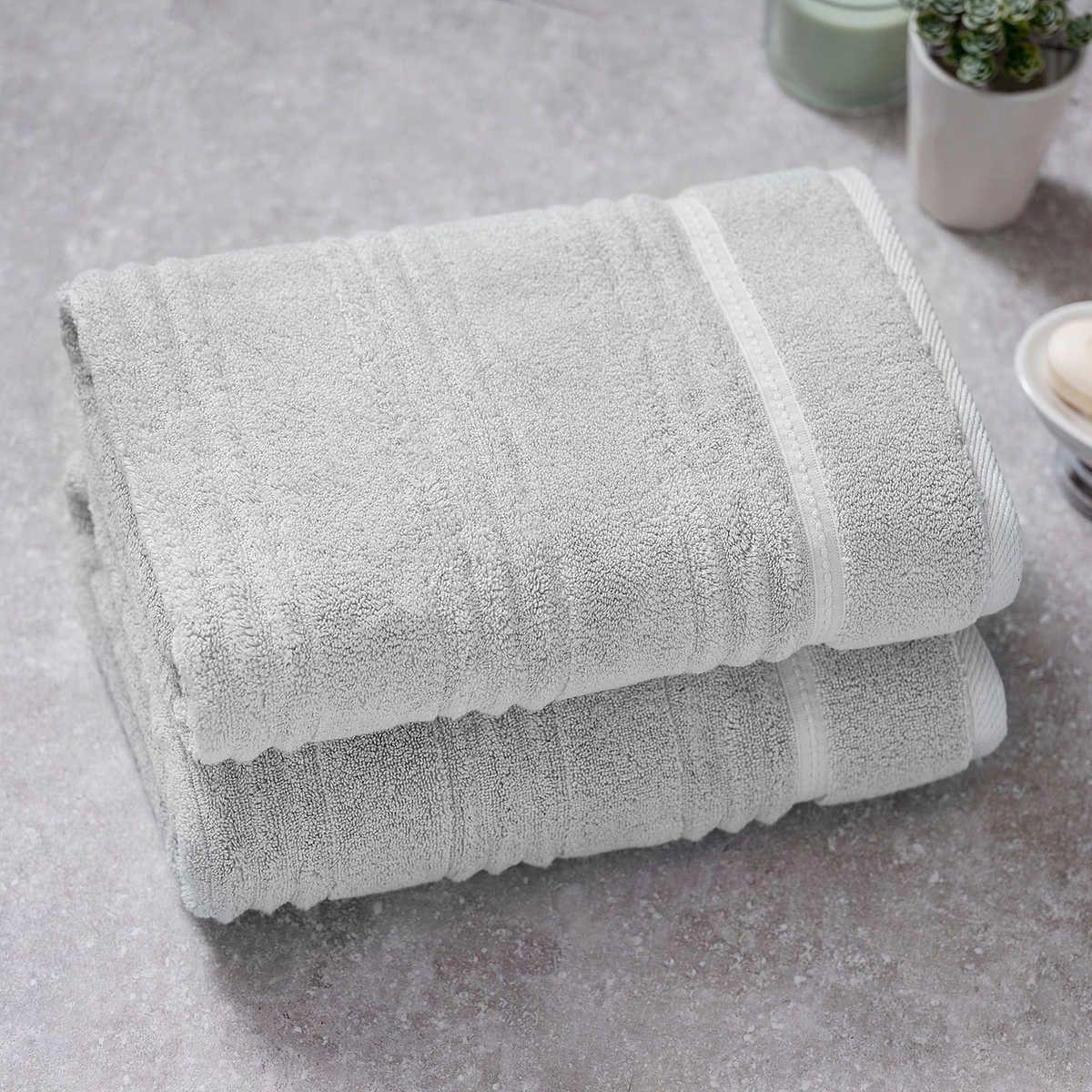 Charisma Bumpy Rib 2 Piece Bath Towel Set With Images Towel