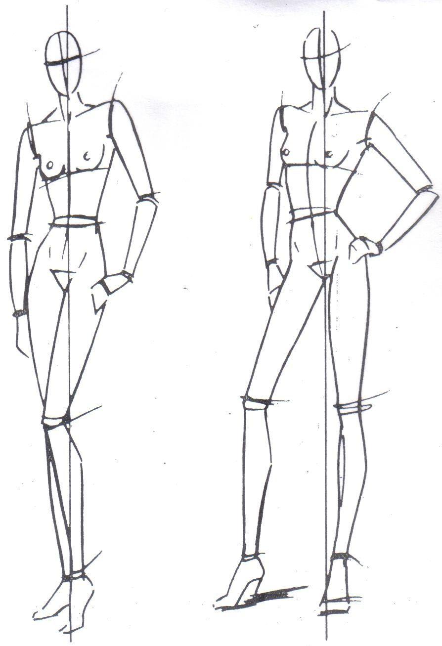 Figura humana para dise o de modas buscar con google for Dibujos de disenos de moda