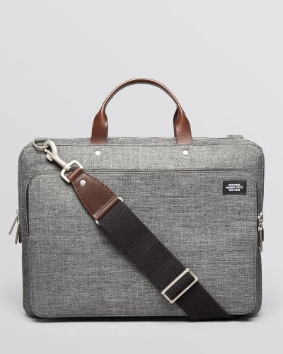 3eb300036 Men's Gray Tech Oxford Slim Supply Briefcase | Creating the look ...