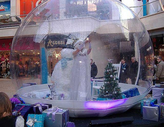 Snowglobe Escaparates Navidad