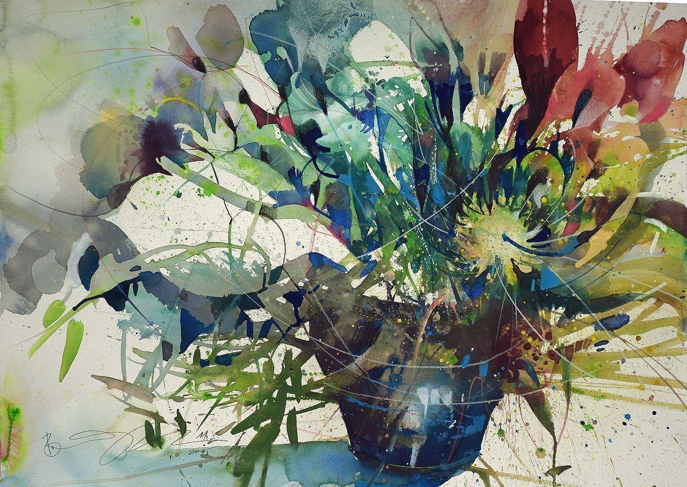 Werke Bernhard Vogel Flower Art Painting Art