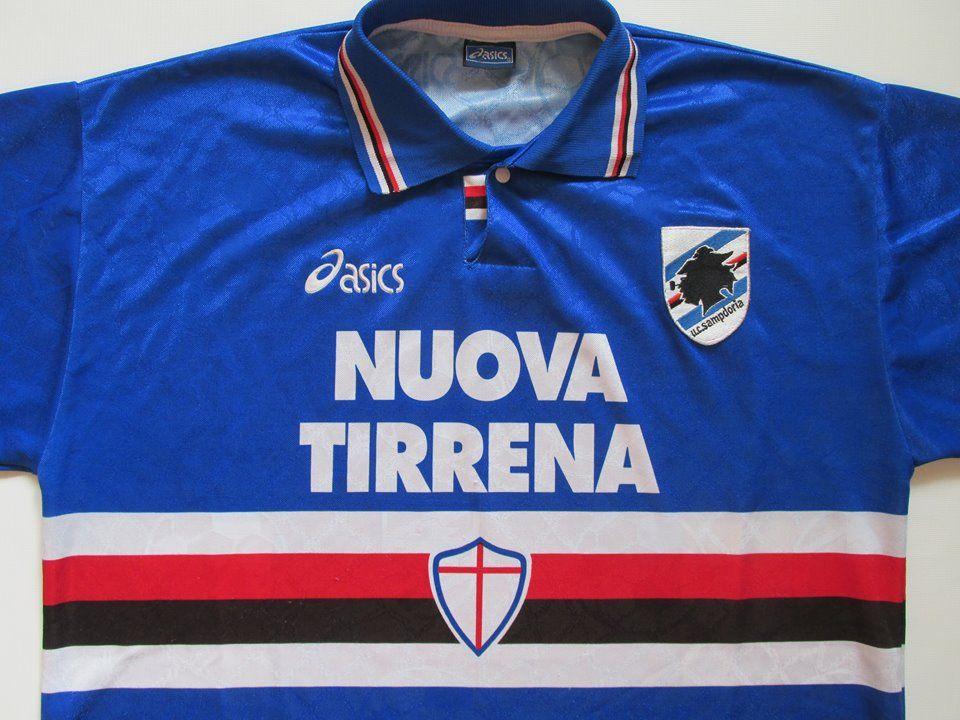 sampdoria 19951996 home footballshirt by asics forsale