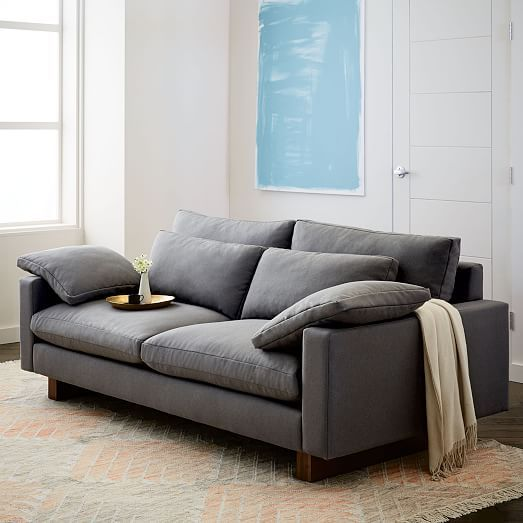 Harmony XL 25 Seat Sofa Trillium Performance Velvet Ink Blue