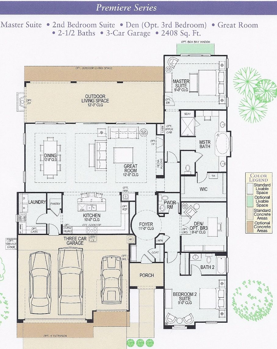 ranch floor plan,,,split Bdrm 2 into two bedrooms with access to bathroom. and make the den/bdrm3 into bedroom four with a door to the bathroom and Wallah! love the kitchen area