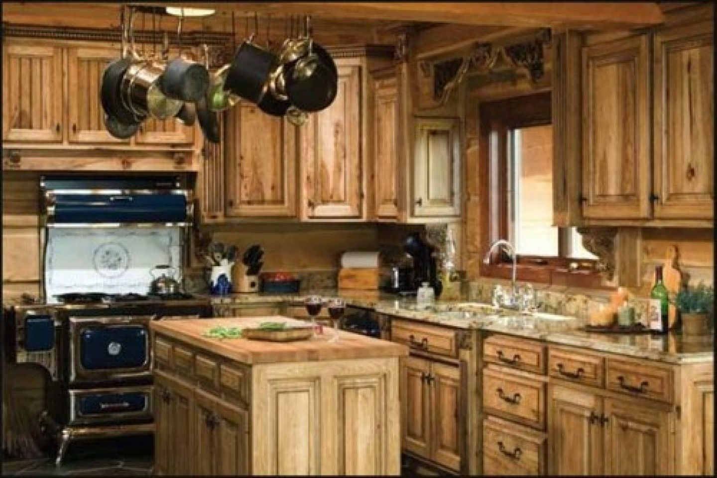 country cabin kitchen | tags cabin country cabinets country kitchen ...