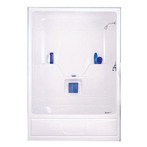 "Shower Grab Bars Rona 3-piece ""aspen"" bath with shower   rona   bathroom ideas"