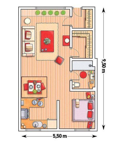 Un garaje convertido en un loft de 52 m decor for Planos apartamentos pequenos