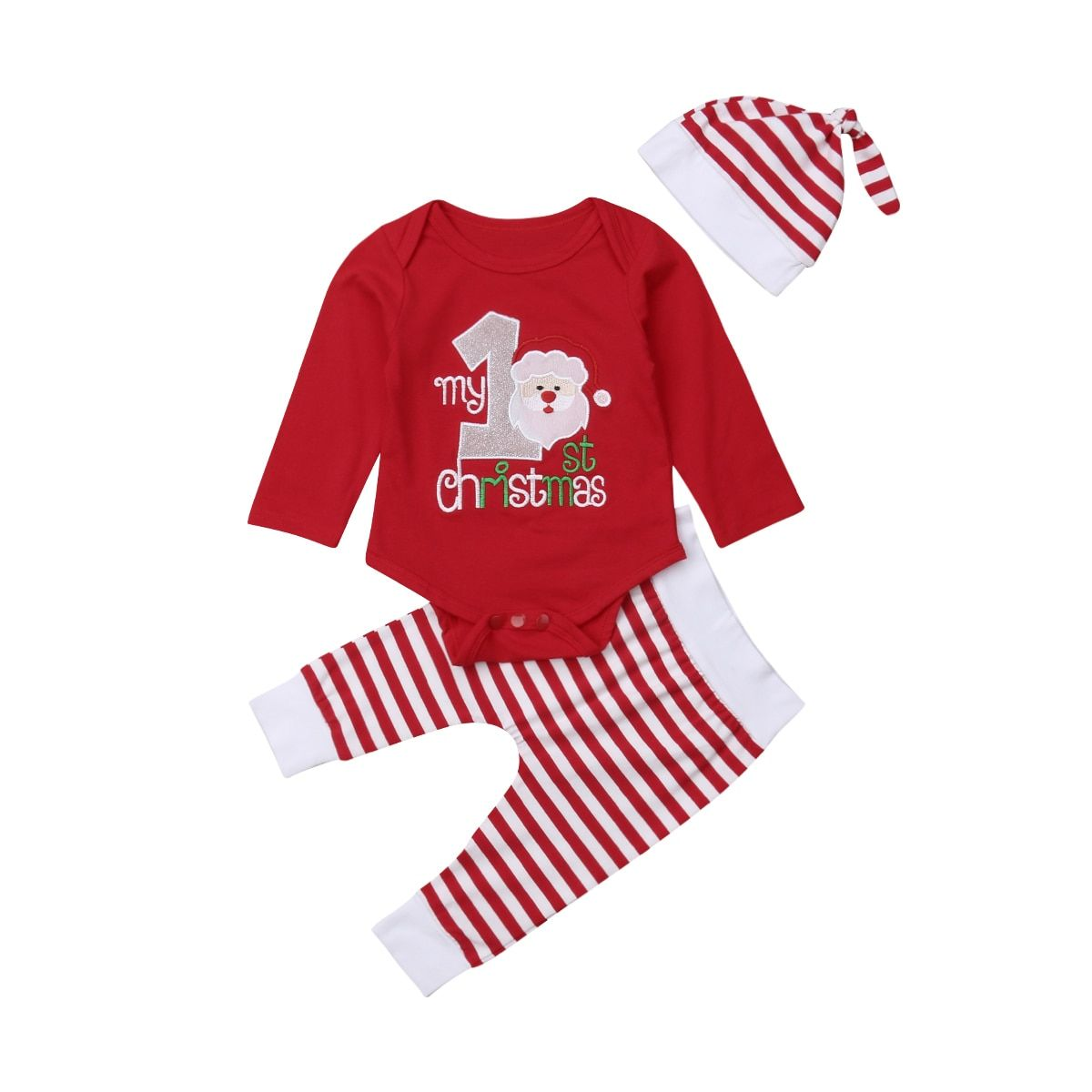b1d8ebb15cb08 Stock Newborn Infant Baby Boy Girls Christmas Romper Clothes Outfit Playsuit
