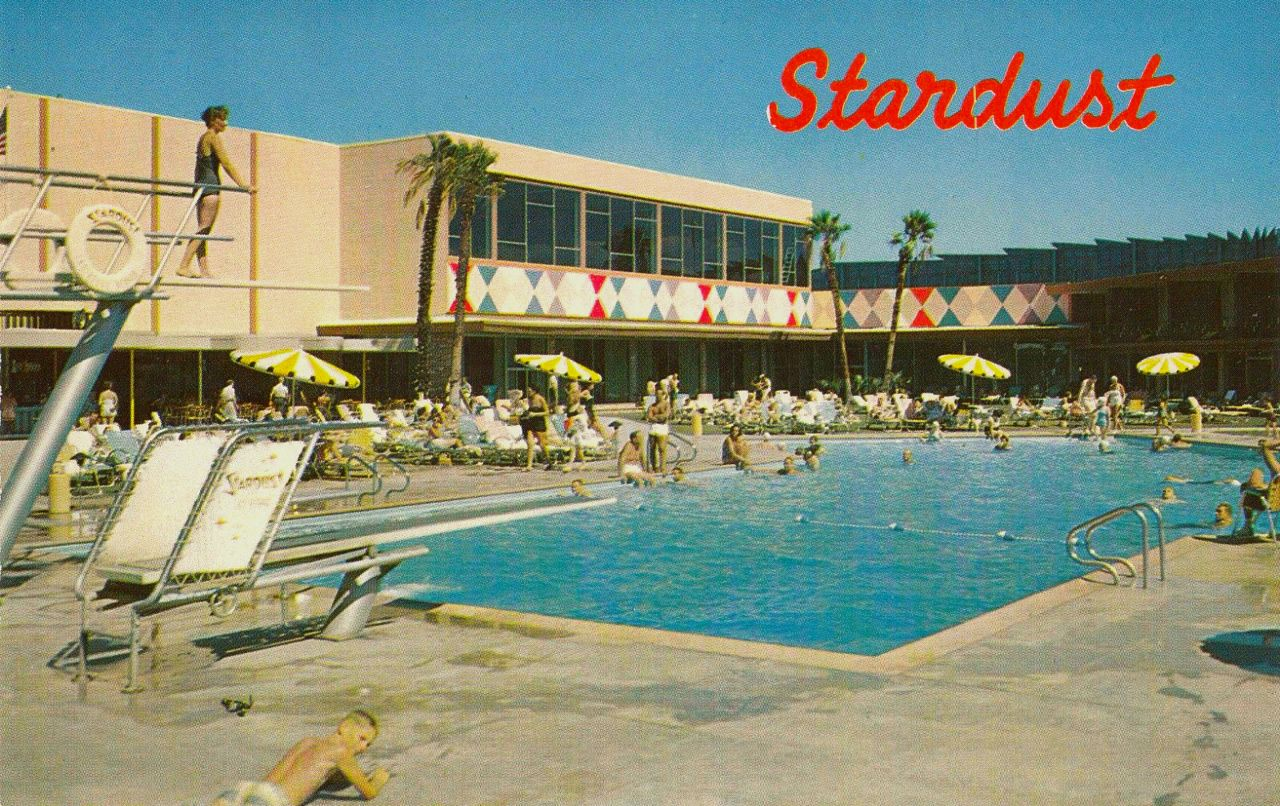 A Young Boy Looks At The Camera Here At The Stardust Pool Years Ago Las Vegas Nightscape Photo