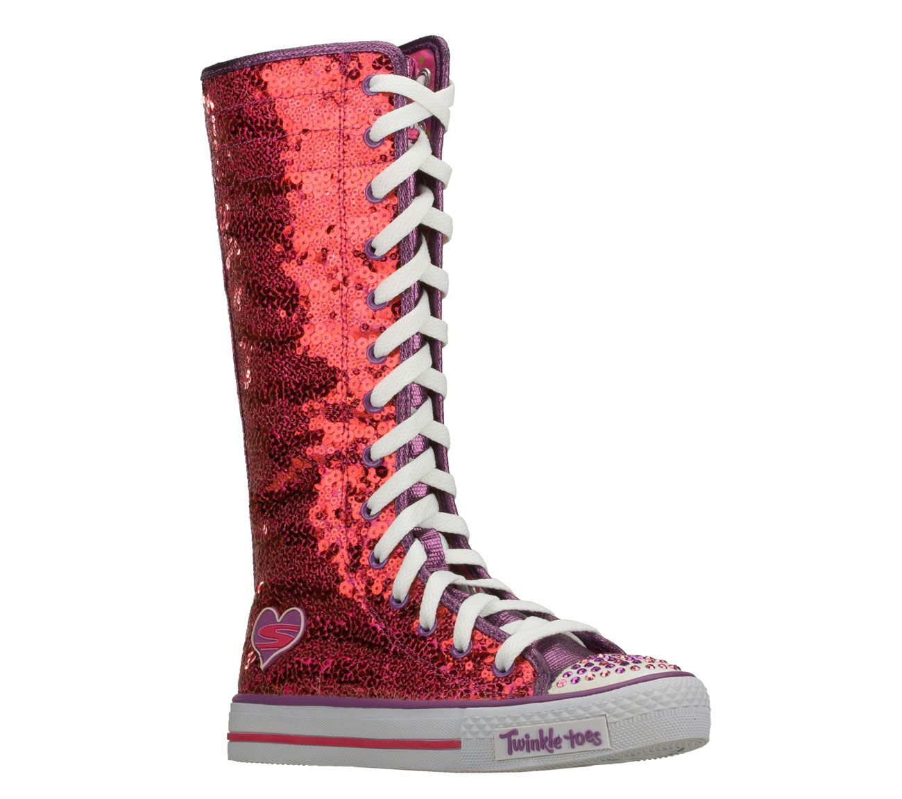Buy Skechers Girls Twinkle Toes Shuffles Lolly Dolly High Top