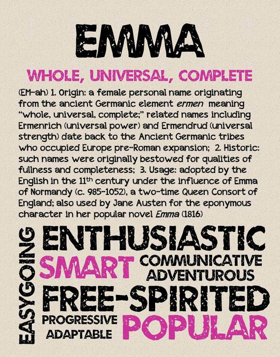 Emma Learn Name Meaning Origin Characteristics Popularity And More Here At Oh Baby Names