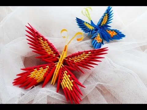 Origami Motyl Krok Po Kroku How To Make A Butterfly Tutorial 3D