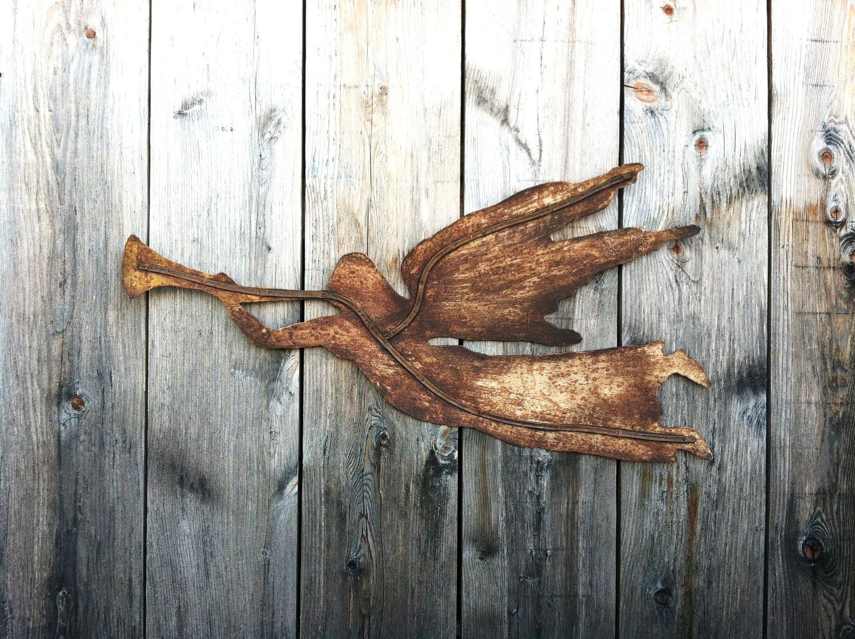 Rustic Metal Wall Art Angel Gabriel