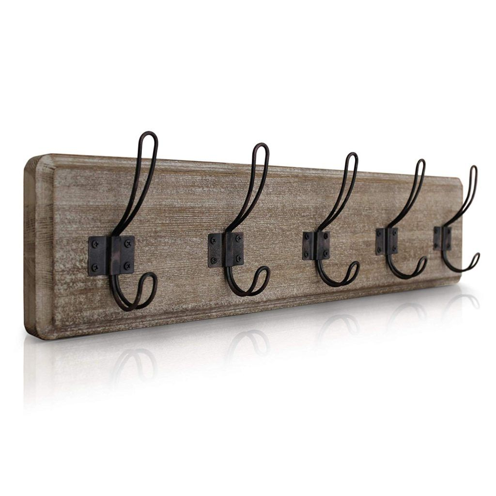 12 Cozy Inviting Guest Bedroom Ideas The Unlikely Hostess In 2020 Rustic Coat Rack Wall Mounted Coat Rack Coat Rack Wall