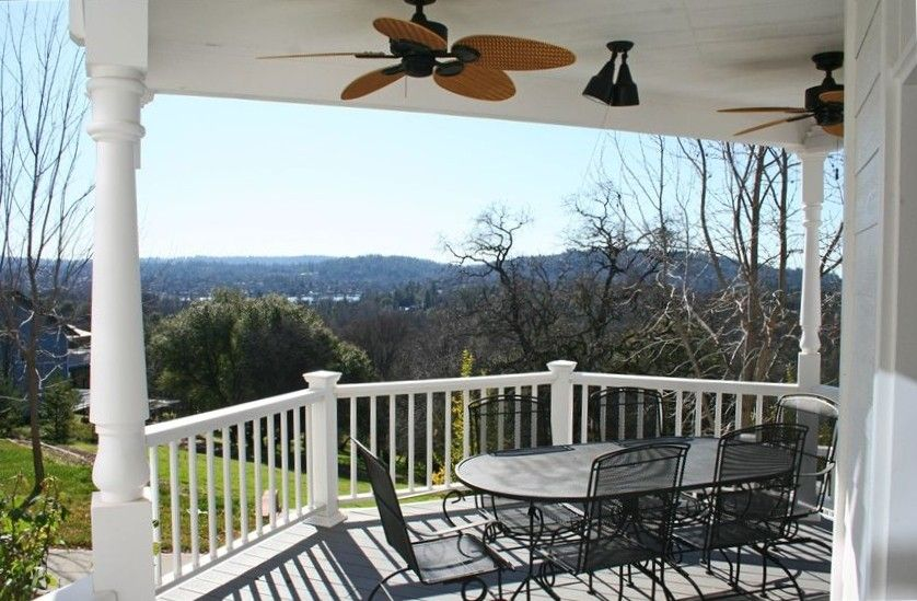 Auburn house rental - Downstairs Deck- Gorgeous Sunset Views too!