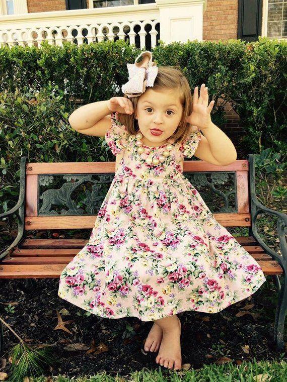 1a6b1402cd04f Floral Girls Dresses - Handmade Dresses - Smock Dress - Floral ...