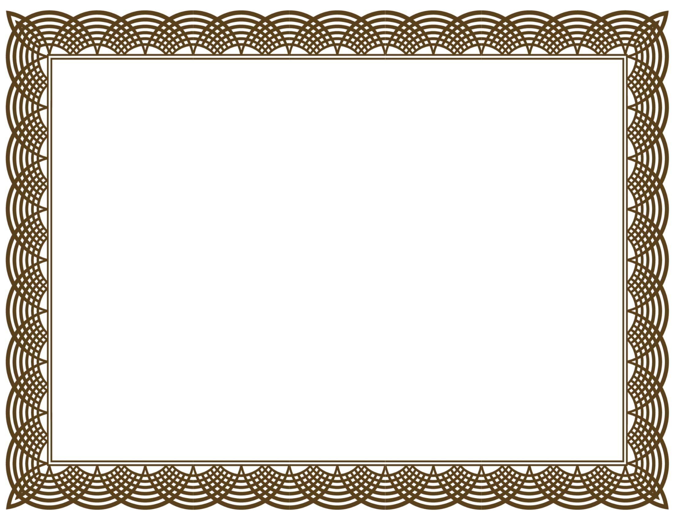 Bingkai Free printable blank certificate borders