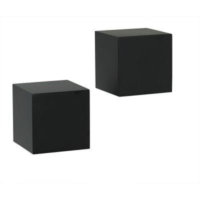 knape vogt 5 in w x 5 in d wall mounted black wall cube rh pinterest com  black wall cube shelf